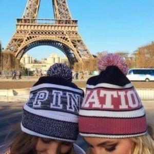 NWT vs pink beanie